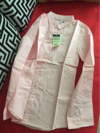 日本購回 基本款粉紅色襯衫 全新m