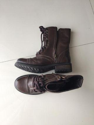 Leather boots Steve Madden ori