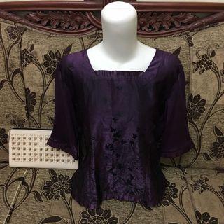 Purple Blouse semi satin