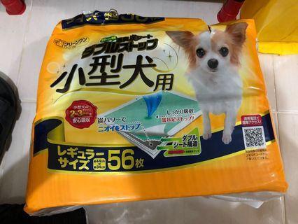 小型犬 寬型雙層吸收消臭炭尿布44*34 56入