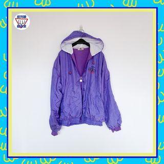 二手 紫色 微藍光澤 連帽 風衣 男人味 外套 大衣 前列腺超音波 81014