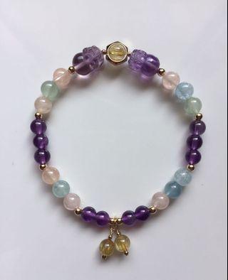 紫水晶貔貅手鍊