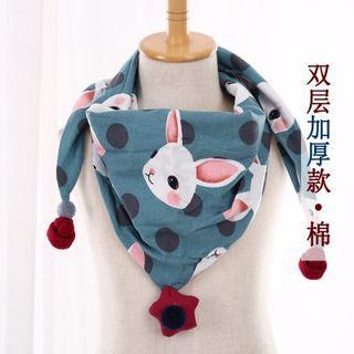 韓版可愛三角巾-兔子藍