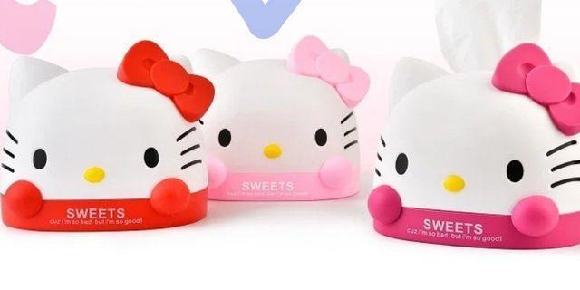 Hello Kitty 抽取式面紙盒-粉色