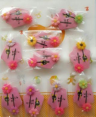 可愛甜美小雛菊一字夾👉一組2入