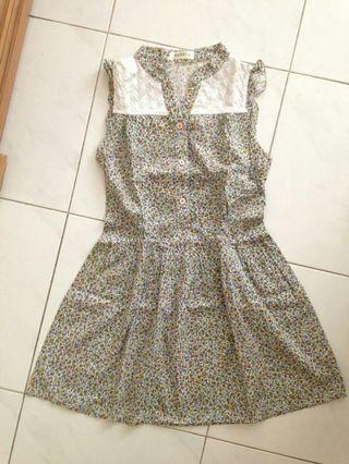 Dress floral bunga pastel