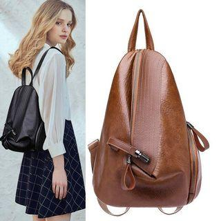 PU Leather Travel Backpack 2 Colors