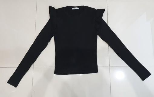 Atasan Zara Sweater Black