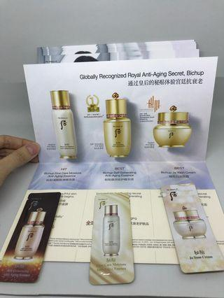 Sample the history of whoo bichup collection