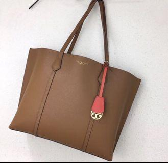 Auth Tory Burch Perry Triple Compartment Tote Large