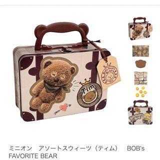 日本環球影城小小兵 提姆行李箱餅乾盒