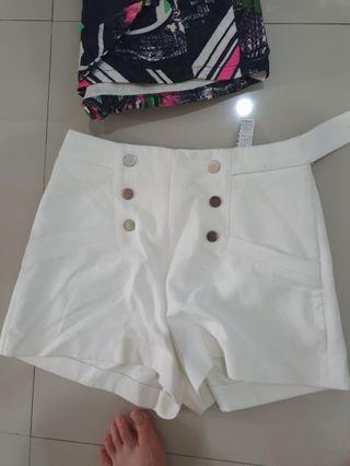 White Short Pants