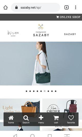 Sling bag, Tas Sazaby made in japan Not Tumi porter