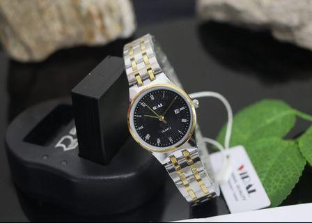 Brand : Viral Kualitas : Original  Display : analog, tgl on, water resist  Diameter : -+3cm Tali : rantai