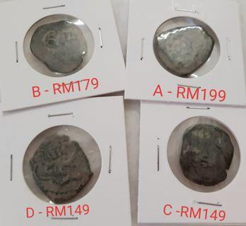 Antique Spanish Pirate Cob Coin Sea Found Used