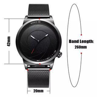 Brand : BiDen 0109 Kualitas : Original  Display : analog, water resist  Diameter : -+4,2cm Tali : pasir kait