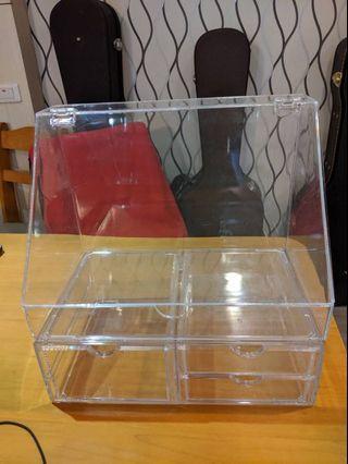 透明 桌上型化妝品收納盒