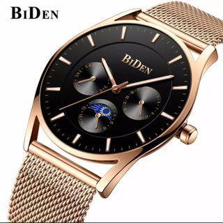 Brand : BiDen 0122 Kualitas : Original  Display : analog, chrono on, water resist  Diameter : -+4cm Tali : pasir kait