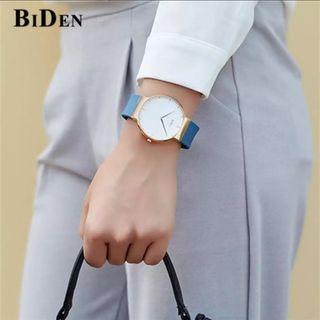 Brand : BiDen 0062 Kualitas : Original  Display : analog, water resist  Diameter : -+4,3cm Tali : rubber