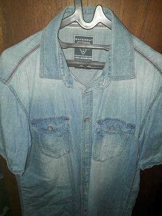 Kemeja Jeans/ Denim  Watchout Size L