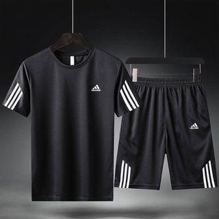 全新現貨Adidas三葉草休閒運動服愛迪達短袖T恤百搭三線短褲