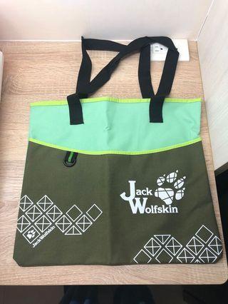 Jack WolfSkin飛狼菱格春意肩包 輕便包 購物袋(綠色)