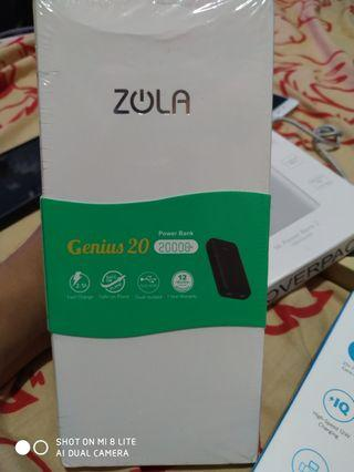Powerbank Zola Genius 2.0 20000 mAh New Fast Charging Black