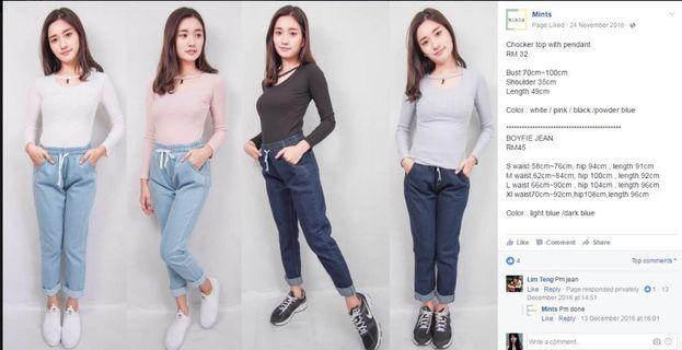 Boyfie jeans light blue