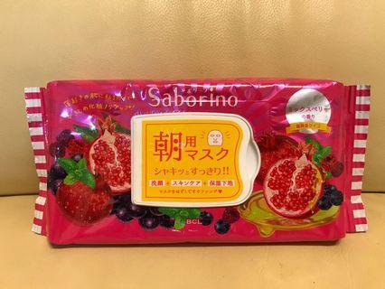 日本BCL SABORINO早安面膜 綜合莓果香味