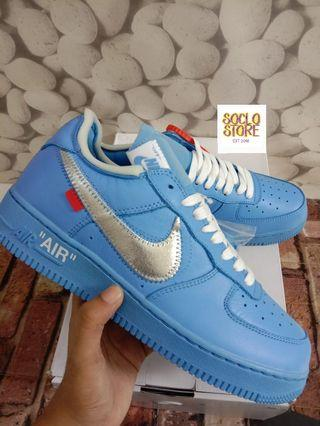 Nike Air Force 1 Low Off White MCA University Blue 100% Perfect Kicks BNIB