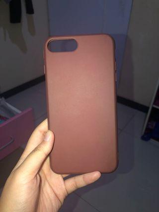 Case iPhone 7 plus 8 plus - coklat
