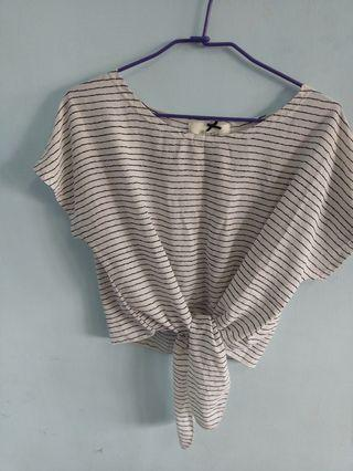 ✨銅板價出清✨條紋綁帶上衣 #五折清衣櫃