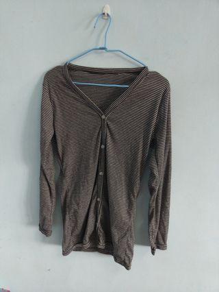 ✨銅板價出清✨黑白條紋薄外套 #五折清衣櫃