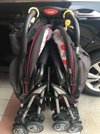 Twin stroller combi brand