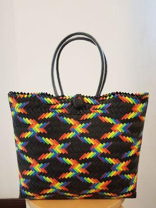 Authentic handwoven tote bag (The Illusionist)