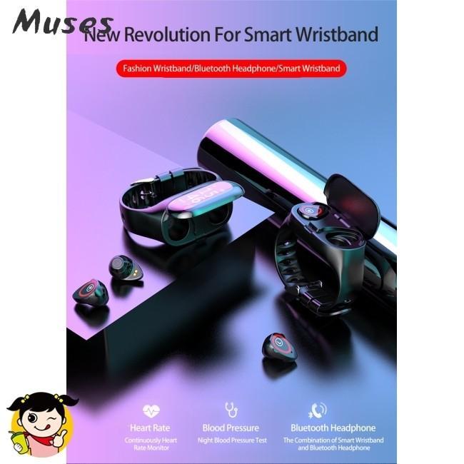 2 in 1 Lemfo M1 Wireless Bluetooth Earphone Sport Watch