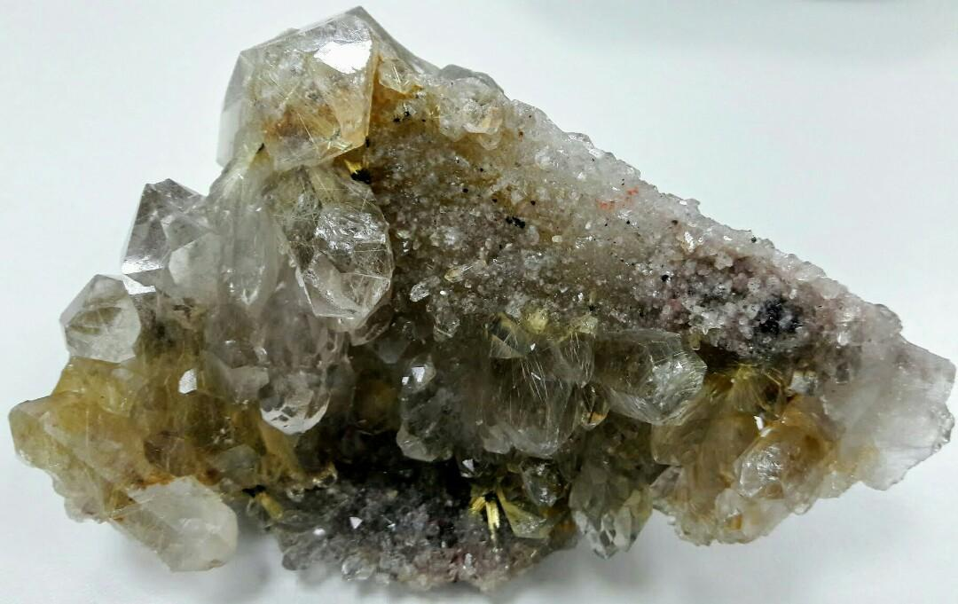 鈦排它媽,鈦晶簇,鈦晶原礦,淨重308克,鈦排的母礦,鈦晶骨幹,鈦晶晶簇髮晶