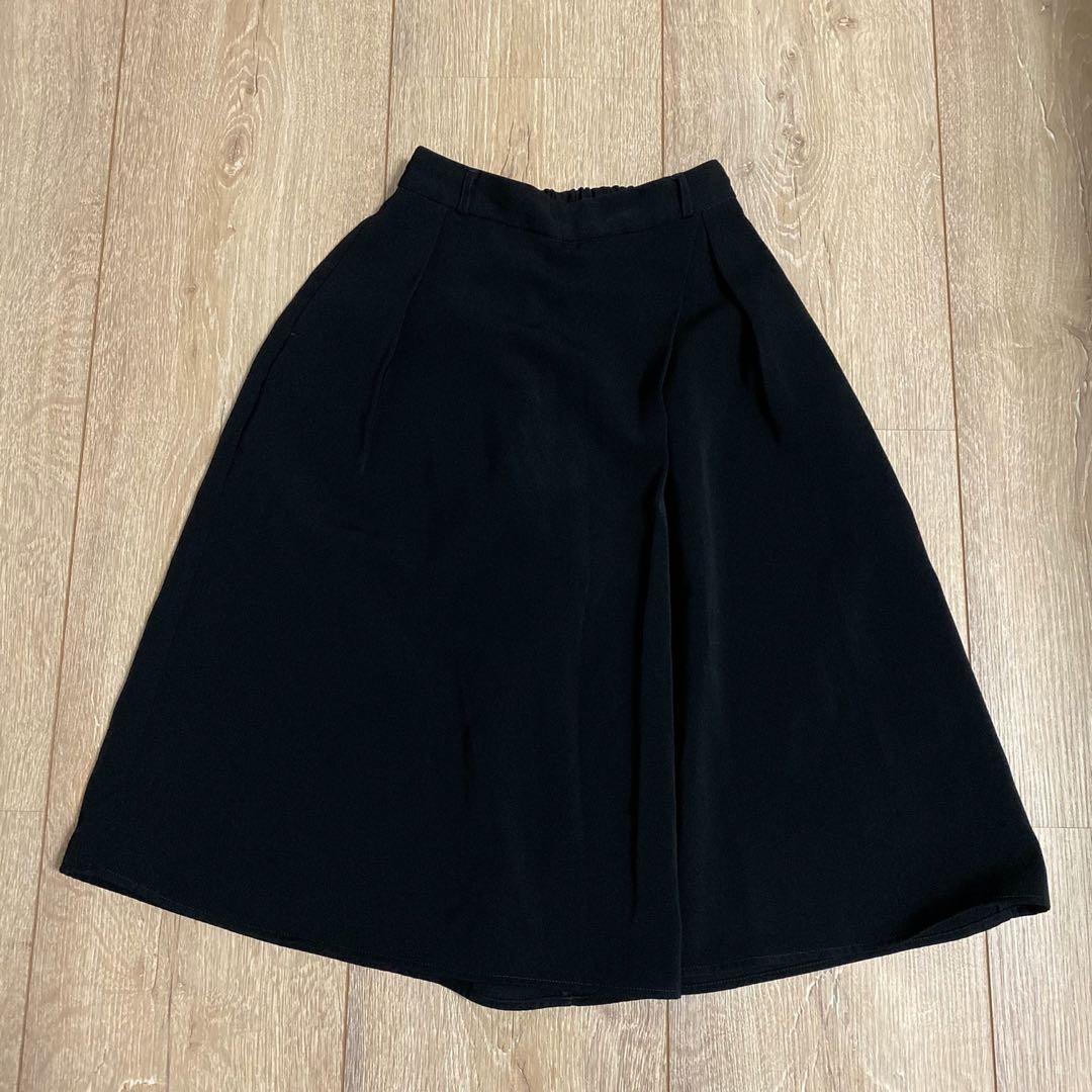 《9成新》GU黑色七分寬褲