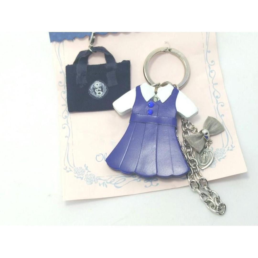 二手未使用日本小林聖心女子學院高等學校制服書包造型吊飾鑰匙圈