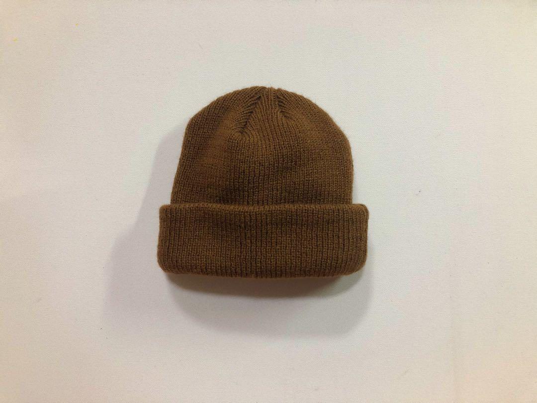 圓頂針織毛帽 咖啡色