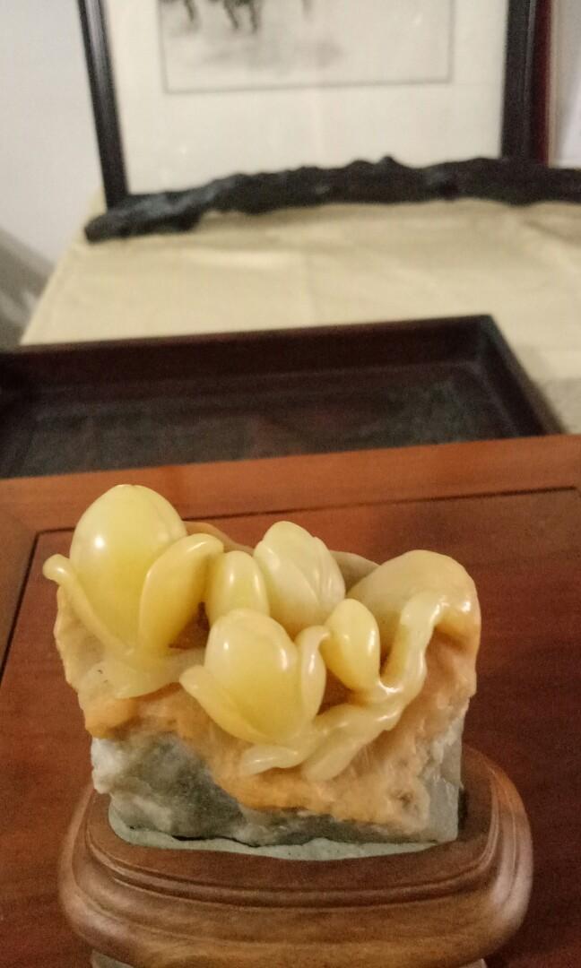壽山芙蓉石 玉蘭花