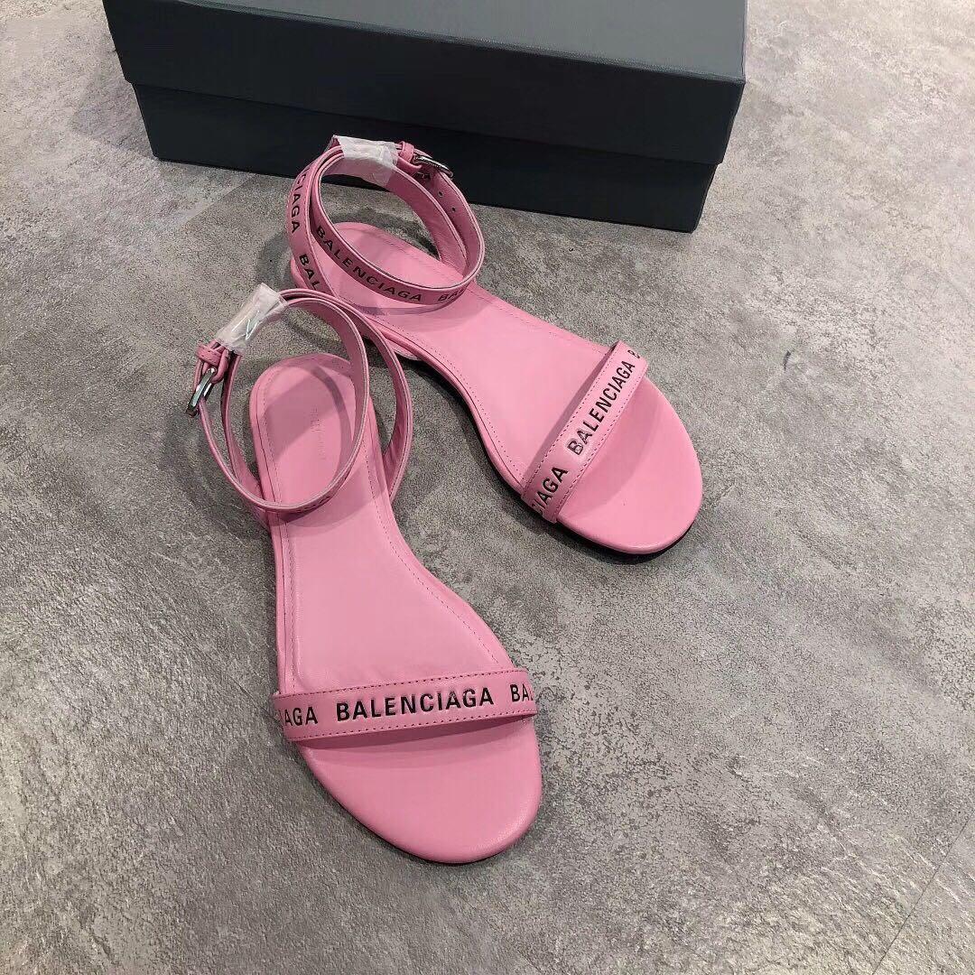 巴黎世家同款 品牌字母平底涼鞋 Balenciaga