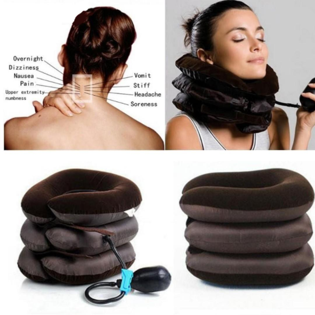 💥 Neck Soreness and Pain Relief Cervical Traction Pillow Pump Stretch