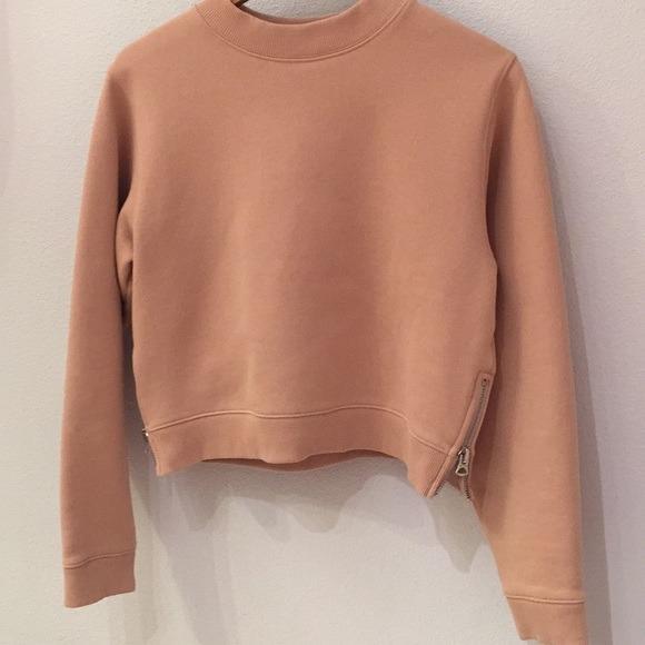 Acne Studios women's bird sweatshirt dusty pink crop dior celine Gucci Chanel balenciaga prada Zimmermann rat boa Maurie eve and & Alice McCall manning cartell Louis Vuitton