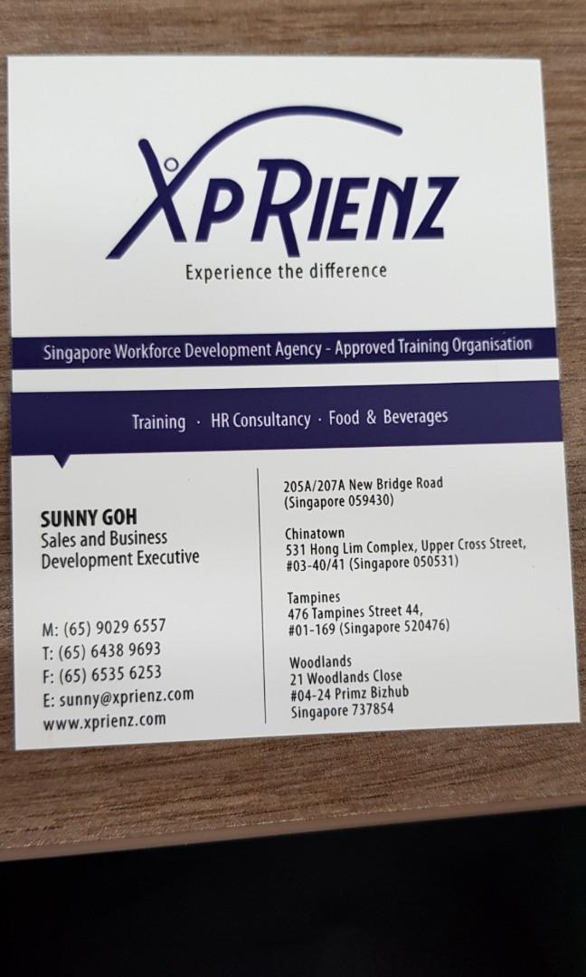 Admin or Sales Executive (about WSQ Courses) XPRIENZ