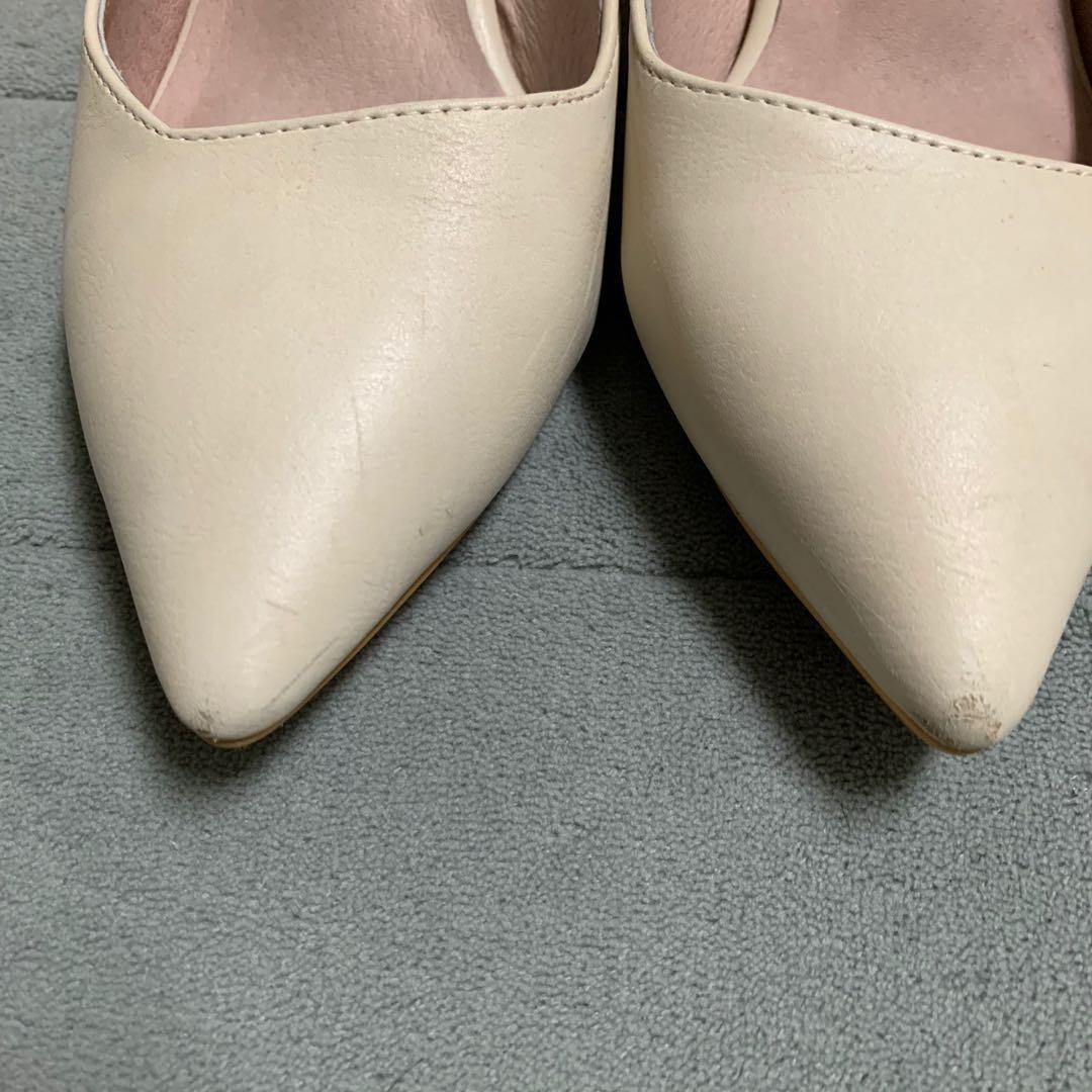 Amai 真皮低跟尖頭鞋0濾鏡