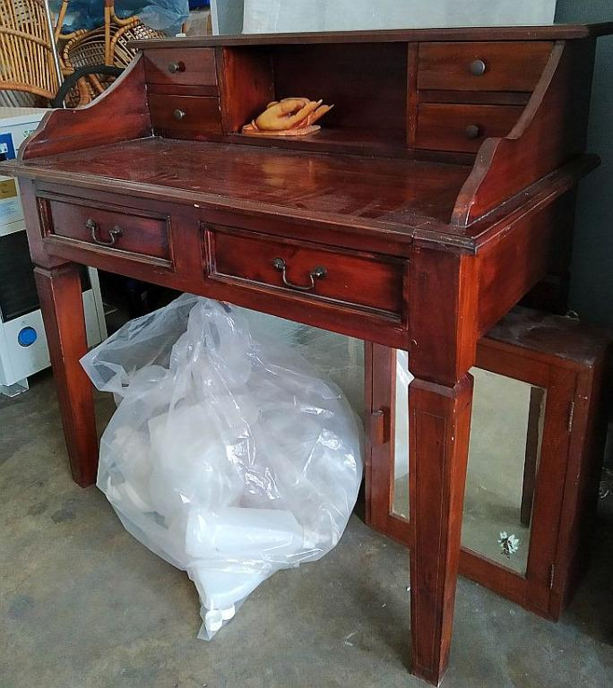 Vintage Bureau Campaign Writing Study Desk