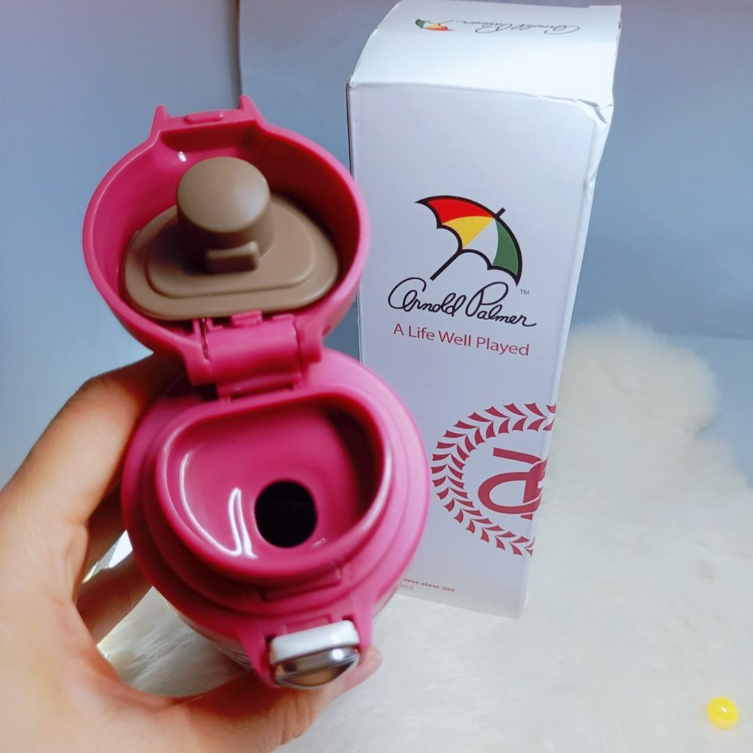 (全新)Arnold Palmer 花雨傘 保溫杯 500ml 304不鏽鋼 桃粉色