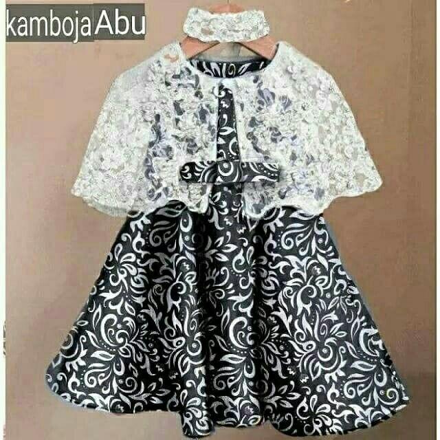Baju Dress Batik Kelly free Bando Anak Perempuan