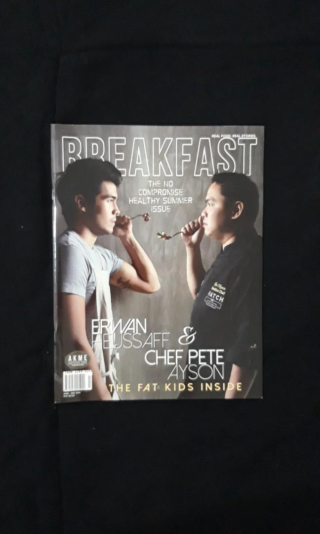 Breakfast Magazine, Apr-May 2014 Issue, Erwan Heussaff and Chef Pete Ayson on the cover